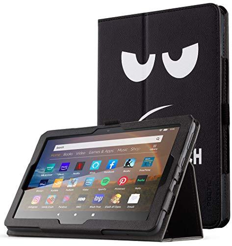 POETIC Slimfolio Series Hülle für Neue Kindle Fire HD 8 Tablet & das Fire HD 8 Plus Tablet (10. Generation, 2020), Premium Slim Klappständerabdeckung aus Kunstleder, Auto Sleep/Wake, Nicht berühren