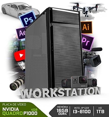 PC NEOLOGIC WORKSTATION NLI80407 INTEL I3-8100 16GB RAM (NVIDIA QUADRO P1000) HD 1TB