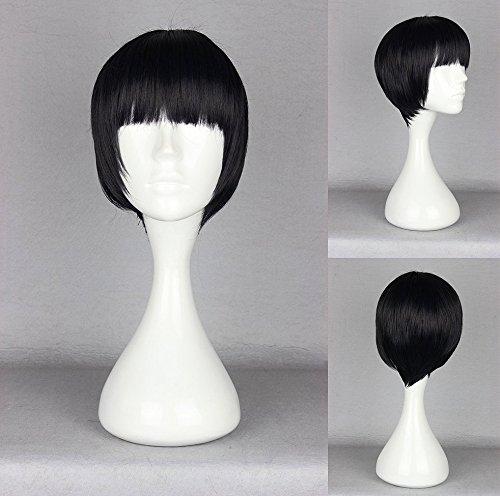Ladieshair Cosplay Perücke Kyoukai no Kanata - Hiroomi Nase schwarz 30cm