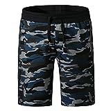 サーフパンツ メンズ 水着 海パン オシャレ 吸汗速乾 ボードショーツ UVカット 海水パンツ 17迷彩ブルー XXL