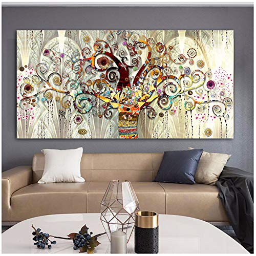"""HSFFBHFBH Quadro su Tela Immagine Stampa Albero della Vita Paesaggio Scandinavo Poster Moderno per Soggiorno Quadri Decorativi 60x120 cm (23,6""""x47,2) Senza Cornice"""