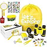 Fernglas Kinder,Outdoor Spielzeug Kompass Lupe Teleskop Entdecker Set für Kinder Draussen Forscherset Spielzeug 33 Stück Spielzeug Set mit Geschenke Spielzeug...