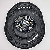 Kenda 2x Reifen 909A 10 Zoll mit abgewinkelten AV-Schläuchen   Zoll/Maß: 10 x 2   ETRTO: 54-152 Kinderwagen, Buggy, Roller