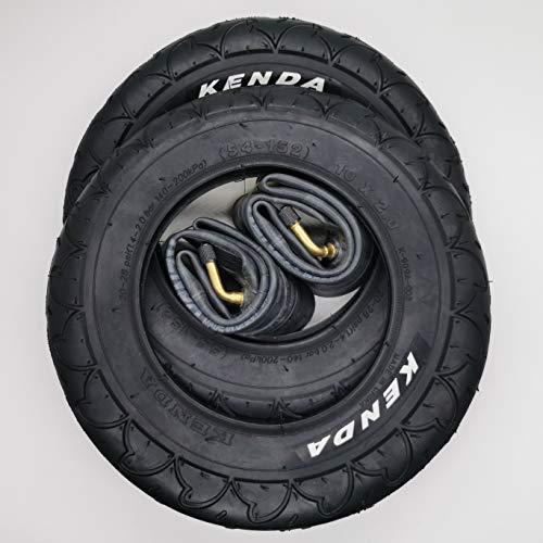 Kenda 2x Reifen 909A 10 Zoll mit abgewinkelten AV-Schläuchen | Zoll/Maß: 10 x 2 | ETRTO: 54-152 Kinderwagen, Buggy, Roller