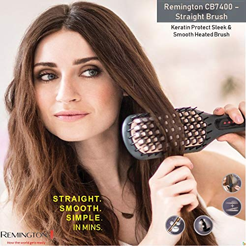 Remington CB7400 Keratin Protect Sleek & Smooth Heated Brush (Gray)