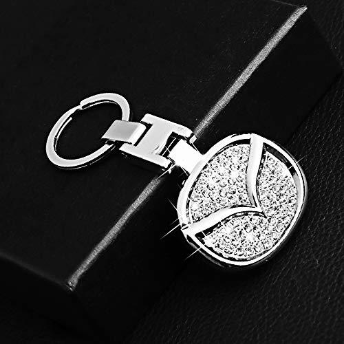 VILLSION Auto Logo Schlüsselanhänger Metall Inlay Glänzender Diamant Doppelseitiges Logo Komm mit Geschenkbox