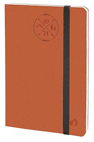QUO VADIS 149002Q AGENDA SCOLASTICA Anno 2020-2021 PLANNING 21 16M Multilingua Everest arancio con elastico 15x21 Settimanale 16 MESI SETTEMBRE-DICEMBRE - 21.3 x 1.4 cm