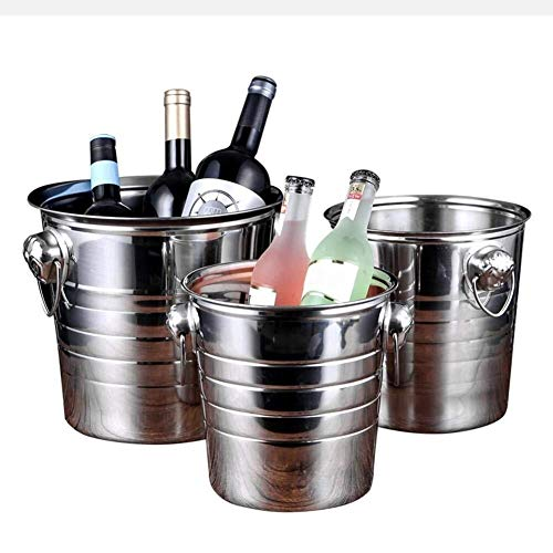 Ice Emmers, Stainless Steel Double Walled Bar ijsemmer Container, Grote Insulated Ice Cube Bucket Dik ijs Pail met Handvat for Partijen, Cocktail, fles, (Color : 5L)