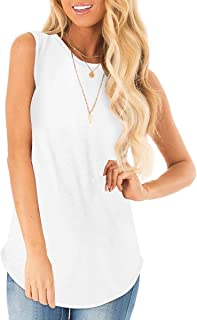 Sousuoty Summer Casual Tank Tops for Women Floral Print Sleeveless Shirts