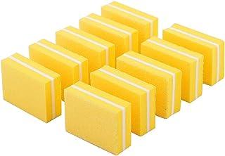 YIMART 20 Pcs Double-sided Mini Nail Buffer Block Colorful Sponge Nail Polish Sanding Buffer Strips Nail File Blocks Manicure Tools (Yellow)