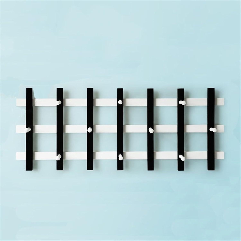 AIDELAI Coat Rack Solid Wood Retro Coat Racks Wall Hanging Shelf Creative Bedroom Hangers Hook Up (color    2)