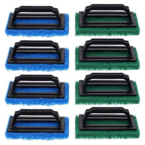 Balacoo 8 Unidades de Cepillo de Limpieza de Esponja para Pecera Esponja de Limpieza Portátil para Acuario Cepillo de Raspador de Algas para Acuario Cepillo con Mango Antideslizante para