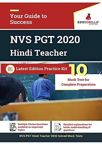 NVS PGT Hindi Teacher 2020 | 10 Mock Test (Hindi Edition)