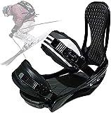 VULID Fijaciones de Snowboard Negras, Fijaciones de Tablas de esquí portátiles para Nieve, Equipo de esquí de Invierno con Correa Ajustable para instalaciones de esquí (Size : M:(34~39))