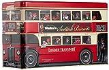 Walkers Shortbread Gebäckdose London Bus Biscuit Selection, Reliefdose inklusive Shortbread-Gebäck, 450 g