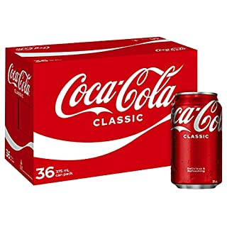 Coca-Cola Classic Soft Drink Multipack Cans 36 x 375mL (Packaging may vary) (B07D89LCQ7)   Amazon price tracker / tracking, Amazon price history charts, Amazon price watches, Amazon price drop alerts