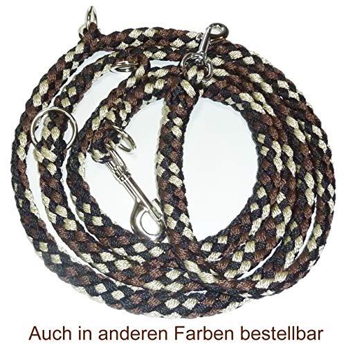 Activity4Dogs Geflochtene Hundeleine, Multileine, 4-Fach verstellbar, 2,80 m lang, rund, Durchmesser 15mm, für größere und große Hunde, Made IN Germany