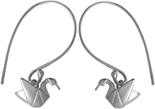 Boma Jewelry Sterling Silver Origami Crane Earrings