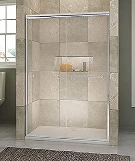 SUNNY SHOWER B020 Frameless Bypass Sliding Shower Doors, 1/4