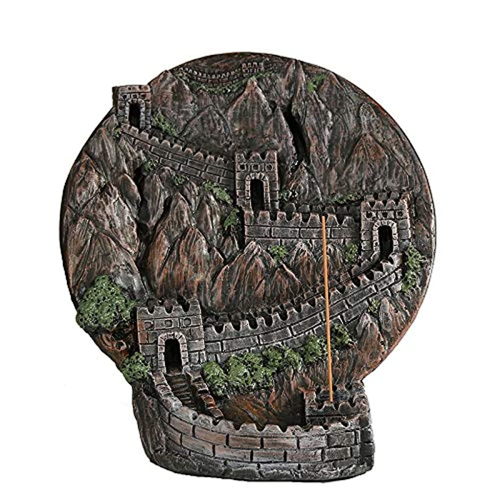 ハロウィンジョリーエンジニアリングPHILOGOD 香炉 ストーンパウダー万里の長城逆流香炉 香皿 クラフト飾りお香 ホルダー/香立て