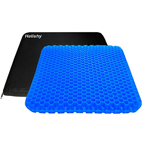 Large Gel Seat Cushion, Double Layer Egg Gel Cushion for Car Seat Office Wheelchair Chair, Breathable Chair Pads Help in Relieving Pressure Pain...