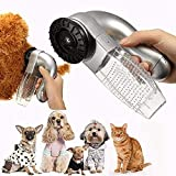 SANZH ONEAM Art Dog Cat Pet Hair Fur Remover,Puppy Electric Hair Shedding Grooming Brush Comb Remover Unload Vacuum Cleaner Trimmer Shedding Tool