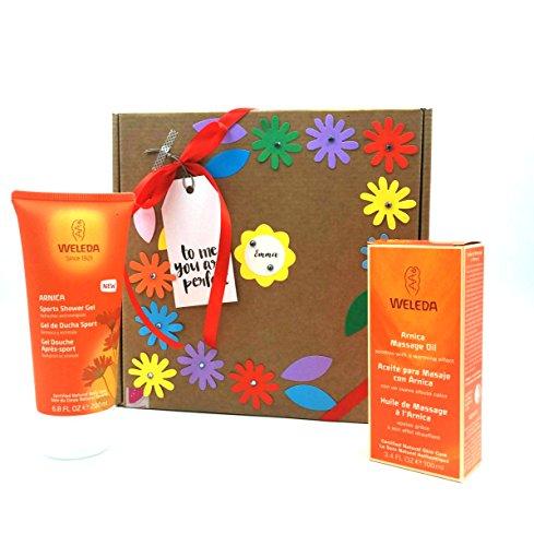 Geschenkbox Arnika   ideal Geschenk für Sportler   mit Bio 100% natürliche Produkte der Linie Arnika