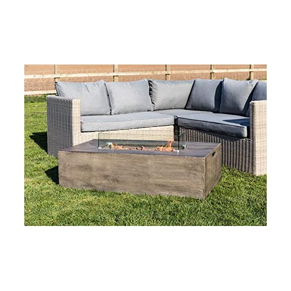 Peaktop HF48708AA-UK Firepit Outdoor Gas Fire Pit Concrete Style