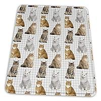 マウスパッド 猫 柄 ゲーミングマウスパット デスクマット 最適 高級感 おしゃれ 滑り止めゴム底 防水設計 複数サイズ