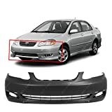 BUMPERS THAT DELIVER - Primered, Front Bumper Cover Fascia for 2005-2008 Toyota Corolla S XRS 05-08, TO1000298