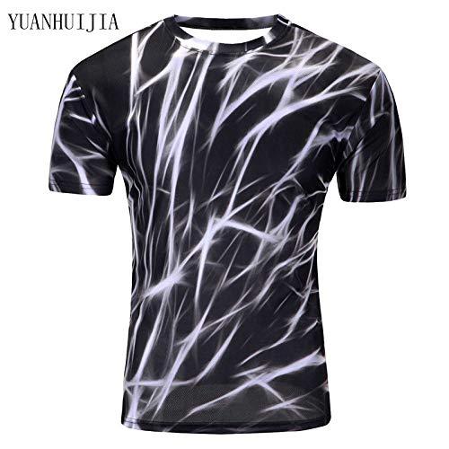 DACEBEIXIN Hombres Culturismo Camisetas de Tirantes,Espacio Galaxy Camiseta Personalizada Camiseta Verano Hombres Creativos De 3D Nueva Camisetas De Manga Corta Mujer Ropa Psicodélica 3 M
