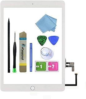 Zentop لأجهزة iPad 5 2017 9.7 بوصة (A1822, A1823) استبدال مجموعة التحويل الرقمي للشاشة التي تعمل باللمس مع زر الصفحة الرئي...