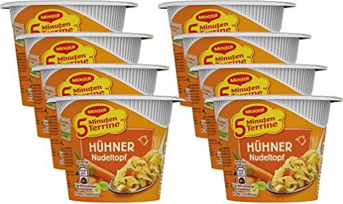 Maggi 5 Minuten Terrine Hühner Nudeltopf, 8er Pack (8 x 41 g)
