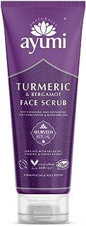 Ayumi Turmeric & Bergamot Face Scrub. Vegan, Cruelty-Free, Dermatologically-Tested, 1 x 125ml