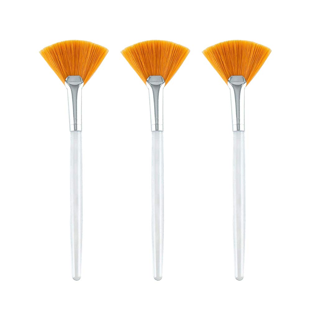 KINIFE 3 Pcs Facial Brushes Fan Mask Brush Applicator Brushes for Peel and Mask : Beauty & Personal Care