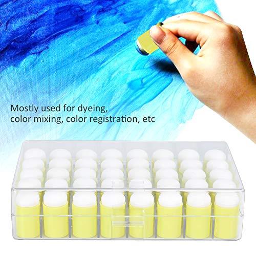DWMD Art Craft Esponja para Dibujar con los Dedos, no es fácil de Absorber Tinta Esponja para Pintar con los Dedos, Esponja para Pintar, Registro de Color de Dibujo para teñir la Mezcla de(Yellow)