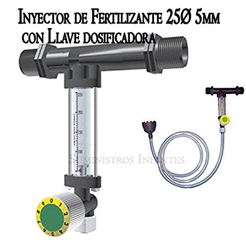 Venturi-Injektor Dünger mit Schlüssel Dosierlöffel Präzisions-25ø 5 mm. Max. Fördermenge max Bewässerung 1630 L/H Durchfluss max 110 Liter Dünger auf 3 bar