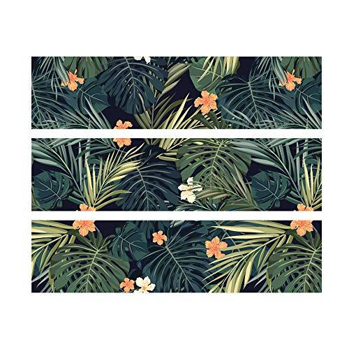 Alwayspon Calcomanías tropicales para aparador IKEA MALM, pegatinas extraíbles para cajones delanteros, pelar y pegar para muebles, 3 piezas x 80 cm x 20 cm