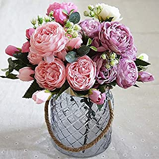 Gardening Accessories Artificial Flowers For Decoration Rose Peony Silk Small Bouquet Flores Party Wedding Decoration Mari...