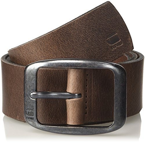 G-STAR RAW Ladd Belt Cinturón, Marrón (Dk Brown/black Metal 8127), 115 para Hombre