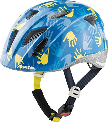 Alpina Unisex Jugend XIMO Fahrradhelm, Blue Hands Gloss, 49-54 cm