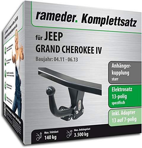 Rameder Komplettsatz, Anhängerkupplung starr + 13pol Elektrik für Jeep Grand Cherokee IV (142539-09072-1)