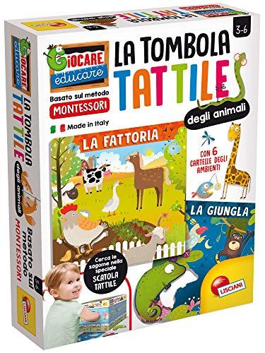 Liscianigiochi Montessori Tombola Tattile degli Animali, 72460