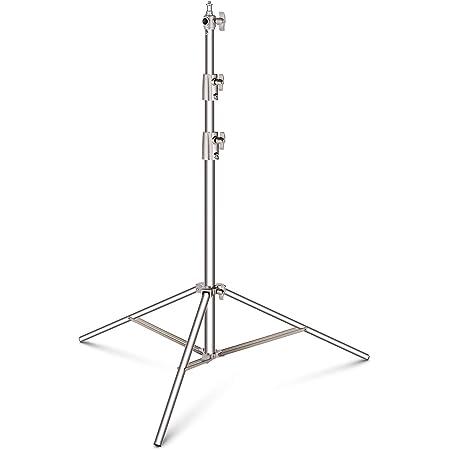 Neewer 99-260 Centímetros Soporte de Luz Ajustable Resistente con 1/4 Pulgadas a 3/8 Pulgadas Adaptador Universal para Softbox de Estudio, Monolight y Otros Equipos Fotográficos, Acero Inoxidable