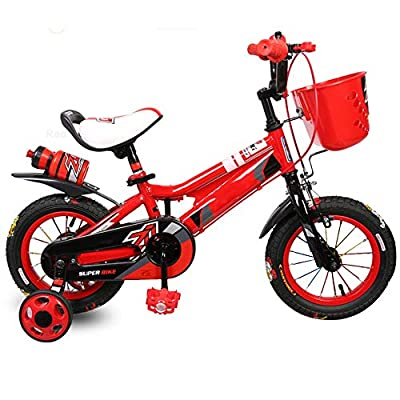 YUMEIGE Kids' Bikes Kids' Bikes, with Training Wheel Children's Bicycle All Inclusive Chain Cover 12 14 16 Inch Suitable for Children 2-8 Years Old Gift Available (Color : Red, Size : 14in) from YUMEIGE