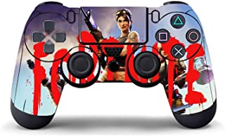 Ginkago Slim Vinyl Skin Sticker Bundle for Playstation System Controllers Fortgame Skin(Red)