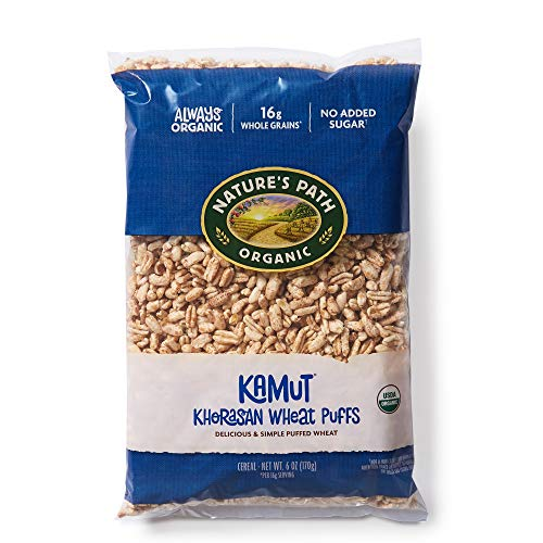 Natures Path KAMUT Khorasan Wheat Puffs Cereal, Healthy, Organic, Gluten-Free, Low-Sugar, 6 Ounce Bag (Pack of 12)