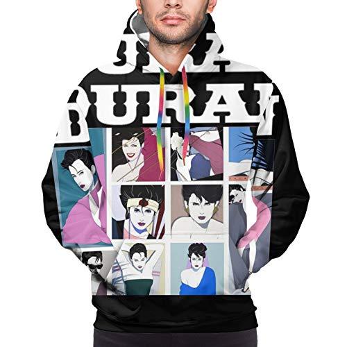 Duran Duran Mens Sweatshirt Fashion Drawstring Hoodie Black