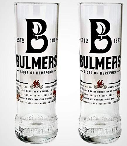 2, Bulmers Biergläser, groß, 1 Stück