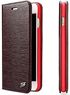 Scheam iPhone 7 Plus iPhone 8 Plus 財布 カード ホルダー 保護する おとこ フォリオ PU レザー カバー ?と おとこ シェル の iPhone 7 Plus iPhone 8 Plus - Red